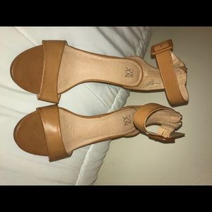 NY & C wedge buckle sandals